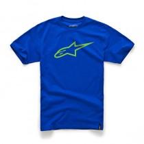 T-shirt Alpinestars Ageless Classic Tee - Royal Blue / Bright Green