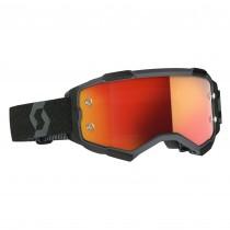 Maschera Scott Fury Black Orange Chrome