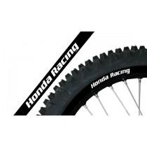 Kit Adesivi Per Cerchi Neri Honda Racing
