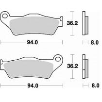 746CM46 Coppia Pastiglie Freno Anteriore Braking - Mescola Racing