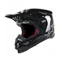 Casco Alpinestars Supertech S-M8 Solid Black Glossy