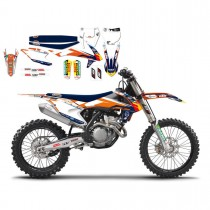 Kit Adesivi + Copertina Replica Team Trophy KTM SX-SXF 16-18