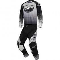 Completo Cross Alpinestars Racer Supermatic - Black / Grey / White