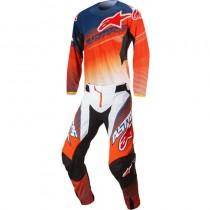 Completo Cross Alpinestars Techstar Factory - Orange / Blue / White