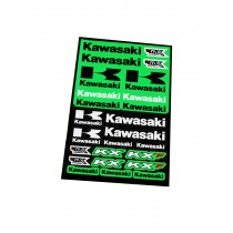 Foglio Adesivi Kawasaki