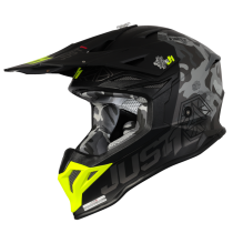 Casco JUST1 J39 KINETIC Camo Fluo Yellow Red Black - Opaco