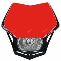 Mascherina Faro Anteriore Rtech V-Face Rosso Honda