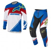 Completo Cross Alpinestars Racer Supermatic - Blue / Red / White