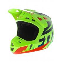 Casco Fox V2 Race Blu / Giallo Fluo