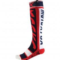 Coppia Calze Fox Fri Divizion Thin Socks - Rosso