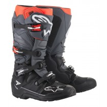 Stivali Alpinestars Tech 7 Enduro Black Gray Red Fluo