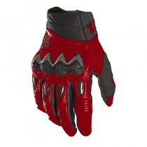 Guanti Fox Bomber Carbon Flame Red