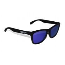 Occhiali Oakley Frogskins Matte Black / Violet Iridium 24-298 Sunglasses Brillen