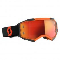 Maschera Scott Fury Orange Black Orange Chrome