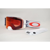 Maschera Oakley Front Line Mx High Voltage Rosso Blu Prizm Torch