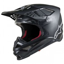 Casco Alpinestars Supertech S-M8 Solid Black Matte