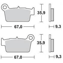 890CM44 Coppia Pastiglie Freno Posteriore Braking - Mescola Standard