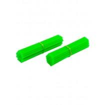 """Kit Copri Raggi Anteriore + Posteriore 18"""" - 21""""  Verde Fluo"""