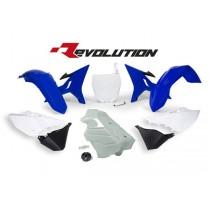 Kit Plastiche Revolution Rtech YZ 125-250 Blue White (Serbatoio Bianco)