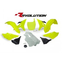 Kit Plastiche Revolution Rtech YZ 125-250 Giallo Fluo (Serbatoio Bianco)