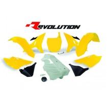 Kit Plastiche Revolution Rtech YZ 125-250 Giallo Anniversario (Serbatoio Bianco)