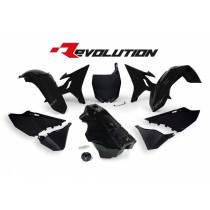 Kit Plastiche Revolution Rtech YZ 125-250 2002=>2020 Nero