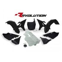 Kit Plastiche Revolution Rtech YZ 125-250 Nero (Serbatoio Bianco)