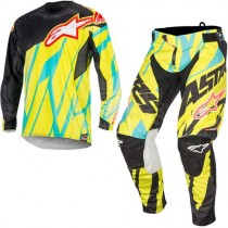 Completo Alpinestars Techstar Tomac Lime Blue Limited